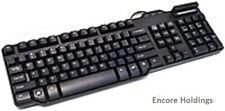 SynchroTech PCM-CR-SCK39SS-B Wired Keyboard - USB - Smart Card Reader - 104
