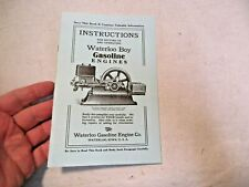 reprint Waterloo Engine Co. Waterloo Boy Gasoline Engines Instructions Booklet