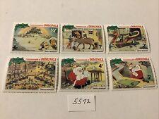 Disney: 6 Dominica Stamps Santa Claus Mnh, Lot #5572