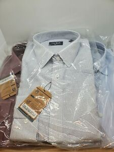 The Tie Bar Trim Fit Lot Of 3 Collared Button Down  Size 15 1/2 34/35 Blue...