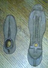 Two Antique 1890s Cast Iron Shoemaker Anvil Form Mold Lasts