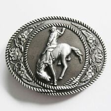 Rodeo Cowboy Horse Rider Western Metal Belt Buckle