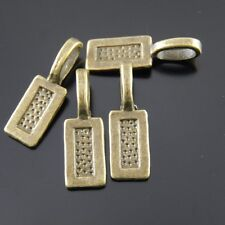 *20X 12*7*1mm Vintage Bronze Rectangle Glue on Bail Earring Bails Pendant Making