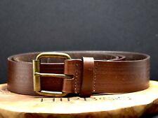 Vintage Mens Real Leather Belt Brown Size 40