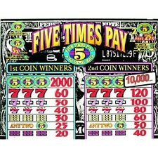 IGT Top Glass, Five Times Play, Black And White (843-918-00)