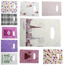 New 100Pcs Lot Pretty Plastic Gift Bag Shopping Bags 14x20cm TO
