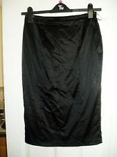 Ladies Belle By OASIS, Size 10, Black Sheen, Side Zip Skirt