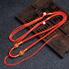 5Pcs Natural JADE beads Red Circle string cord rope for pendant Necklace A215