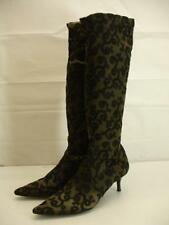 Womens 8 M Donald J Pliner Couture knee high stretch boots green black lace SEXY