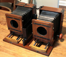 Large Format Twin Lens Reflex -Wood 5x7� Camera - Cased Outfit - Wow Super Rare!