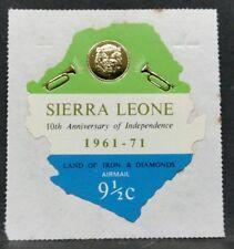 1971 SIERRA LEONE ANNIVERSARIO D'INDIPENDENZA MNH** RF03