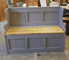 BRAND NEW HANDMADE SOLID PINE 4FT MONKS BENCH..FARROW&BALL UK MAINLAND DELIVERY