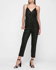 new EXPRESS r29 pick black shimmer surplice dress  SEQUIN JUMPSUIT s
