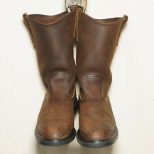 Red Wing Pecos Cowboy Boots Style 1159 Mens US size 8D brown leather made in USA