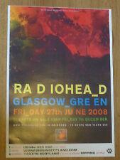 Radiohead - Glasgow Green june 2008 tour concert gig poster
