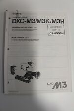 Sony DXC-M3/M3K/M3H Color Video Camera Operating Instructions Manual COPY