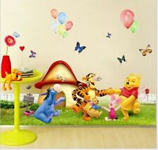 Winnie The Pooh Wall Decals Kids Bedroom & Baby Nursery Stickers Art Decor Room