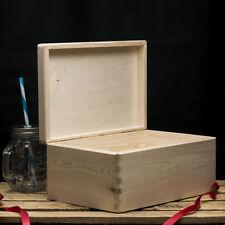 Plain wooden box Storage Box 30x20x14cm Wooden box with lid