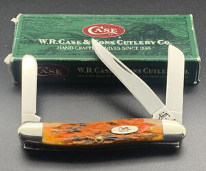 Case XX 6318 SS Autumn Bone 2004 Stockman Mint Knife in Original Box