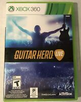 Xbox 360 Game Only Guitar Hero Live- 2 Discs Fast shipping