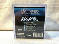 (1) Ultra Pro Storage Box Series 200 Count 2 Piece Display Card Case Holder New