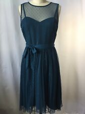 LC Lauren Conrad Snow White Fit Flare Tulle Turquoise Blue Dress 2