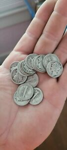 Roll of Dimes 90% Silver Coins $5 Face Value- Full Roll (50) assorted