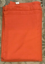 Pottery Barn Organic Diamond Woven TWIN Blanket ~ Orange
