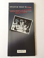 Swatch Test 0001 catalog 1995 catalogue Watches, UK Swiss  Directory Collector