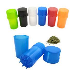 Herb Grinder Plastic Shark Teeth Tobacco Can Extra Storage Magnetic Crusher 46mm