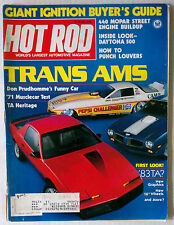 HOT ROD MAGAZINE VINTAGE 1982 MAY FIREBIRD TRANS AM CHEVY FORD MOPAR GM RACING
