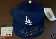 MIKE MARSHALL Signed Dodgers Cap Special Inscription 88 WS Champs PSA/DNA Auto