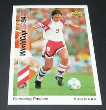 POVLSEN DORTMUND BVB DANMARK FOOTBALL CARD UPPER DECK USA 94 PANINI 1994 WM94