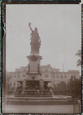 Allemagne, Fontaine à identifier, ca.1900, Vintage citrate print Vintage citrate
