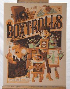 The Box Trolls Tom Whalen #26/65 CardBoard Variant VERY RARE Poster Print Mondo
