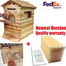 Cadre de 4 PCS + ruche maison en bois haut rendement brut miel apiculture
