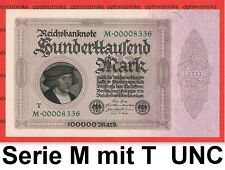 (18) Ros.82 b Serie M mit T 100 000 Mark UNC Pick 83 Germany Inflation