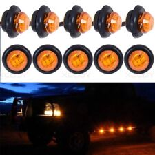 10x Amber LED Auto Car Bus Truck Lorry Side Marker Indicator Trailer Lights Lamp