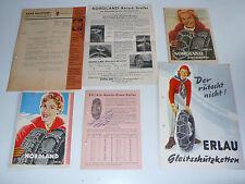 Nordland, Erlau, RUD Schneeketten - 6 Prospekte, Händlerinfos, Preise 1953-1955