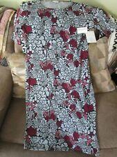 Lularoe Xl Julia Dress Gray/Pink/Black/Burgundy Bnwt