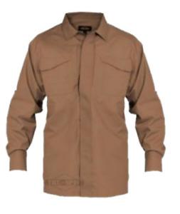 Tru-Spec 24-7 Series Long Sleeve Uniform Shirt, Large Regular, Coyote, NWT