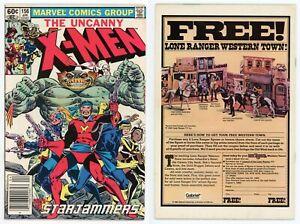 Uncanny X-Men #156 FN/VF 7.0 1st Acanti STARJAMMERS Corsair NEWSSTAND 1982