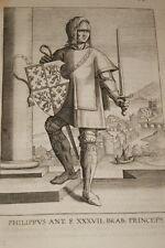 GRAVURE BELGIQUE PHILIPPUS  BRABANT VEEN COLLAERT 1623 OLD PRINT R1002