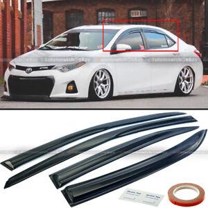 For 14-19 Corolla Acrylic Mugen Style 3D Wavy Window Visors 4 Pcs Visor Set