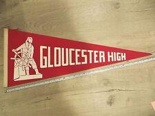 Gloucester Massachusetts High School Mass MA Felt Pennant Flag Football