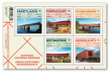 *in stock 2019 Canada Historic Covered Bridges Souvenir Sheet Of 5 Stamps
