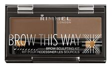 3 Rimmel London Brow This Way Sculpting Kit in Medium Brown 002 ~ Factory Sealed