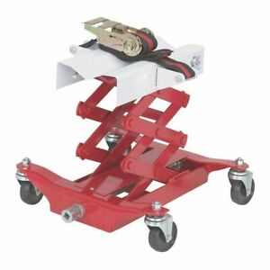 "450 lb Low Lift Transmission Jack 7 1/4"" to 23 1/4"" Lift Height Inc Strap Cradle"