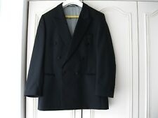 Alders men's double breasted Dinner suit. Black. Chest 40in. Waist 36/37in