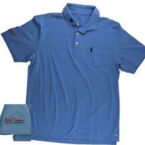 Scotty Cameron Peter Millar Summer Seaside Wash Blue Golf POLO Rat mens medium